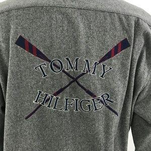 Vtg 90s Tommy Hilfiger Mens Shirt Double Side XL